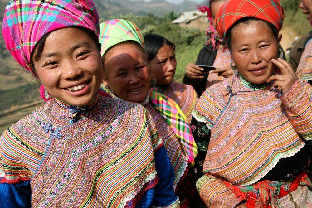 Peuple de la minorité Flower Hmong