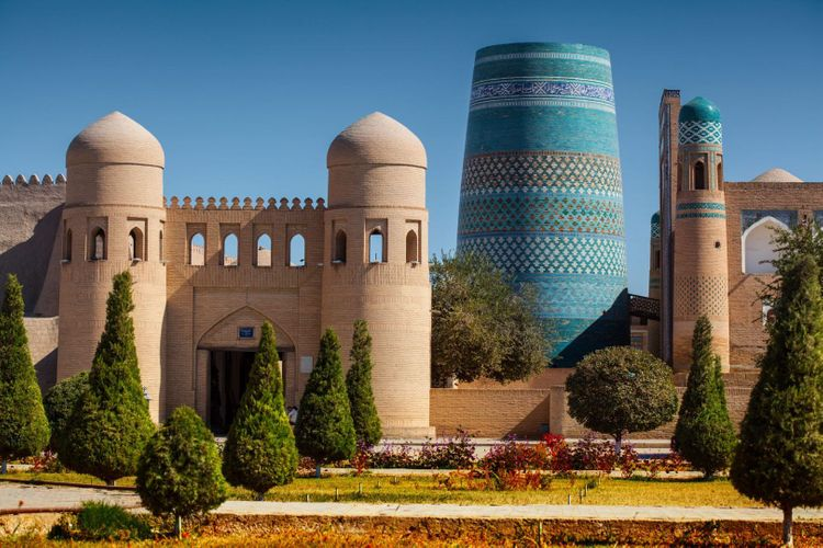 Ancient town of Itchan Kala. Khiva, Uzbekistan