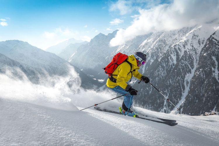 Shredding fresh powder at Karakol ski resort in Kyrgyzstan © Darya Ponomaryova/Shutterstock