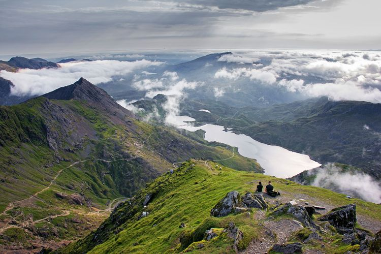 Mount Snowdon with dramatic lakes and valley @ Simon Bennett/Shutterstock