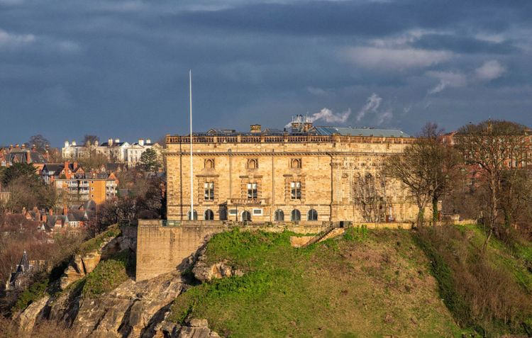 A view of Nottingham Castle from a distance ©Tracey Whitefoot / Nottingham Castle Trust