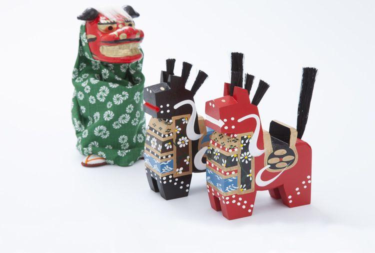 Japanese traditional Yawata-uma horse toys © JenJ_Payless/Shutterstock