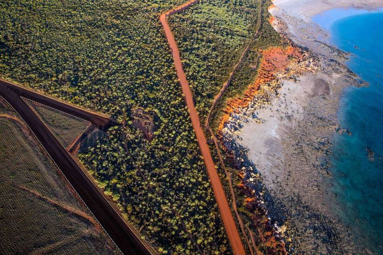 Aerial view of Broome