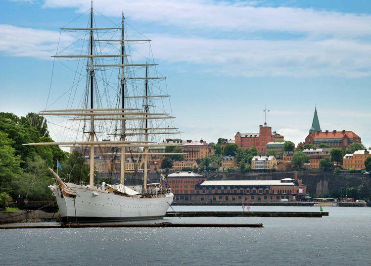 """The sailing vessel """"Af Chapman"""" (constructed in1888) on Skeppsholmen in Stockholm, Sweden"""
