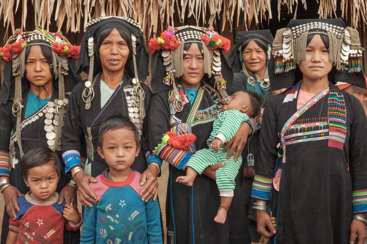 Hill Tribes in Laos, family photo
