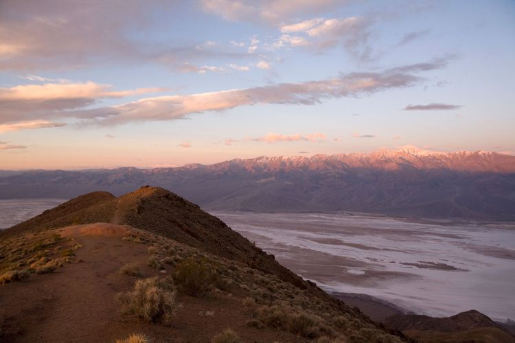 Badwater Basin 2, USA, California, Death Valley, Badwater Basin from Dante's View