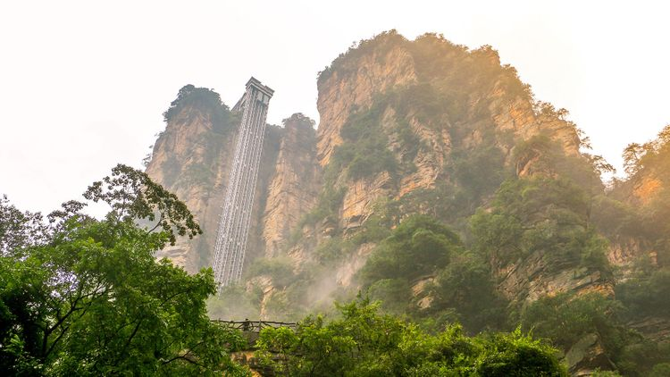 Bailong elevator in Zhangjiajie national forest park, China