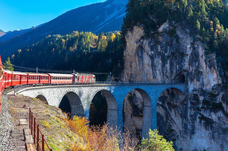 Bernina Express in Switzerland ©  Peter Stein/Shutterstock