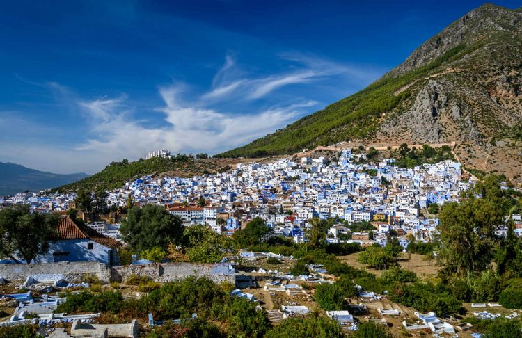 A view of the blue city of Chefchaouen in the Rif mountains, Morocco © Marko Razpotnik Sest/Shutterstock