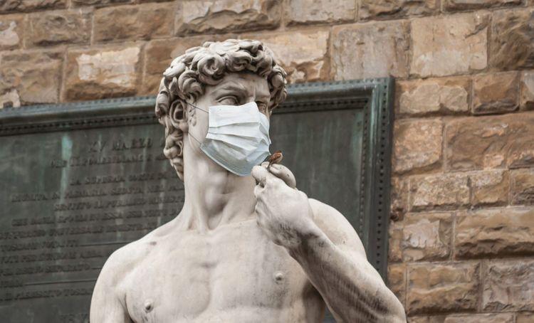 Coronavirus-David-Statue-Florence-shutterstock_1669557037