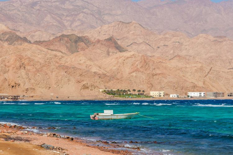 Dahab, Sinai Peninsula, Egypt, Mountains and Coast of red sea