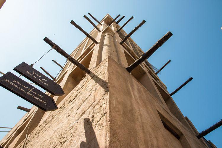 Natural air con tower in Al Fahidi area, Dubai