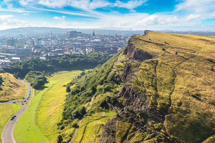 edinburgh arthurs seat scotland uk