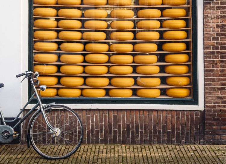 Gouda cheese bicycle, Netherlands @ Shutterstock