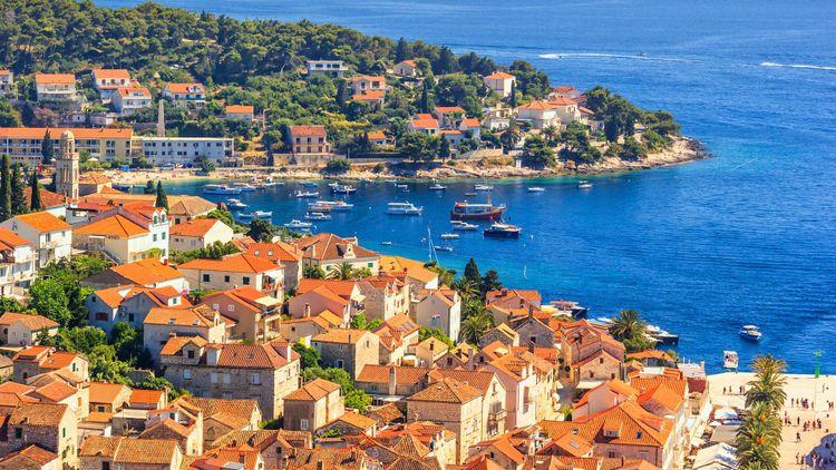 City Harbour of the town of Hvar, on the island of Hvar, the Adriatic coast of Croatia © rustamank/Shutterstock