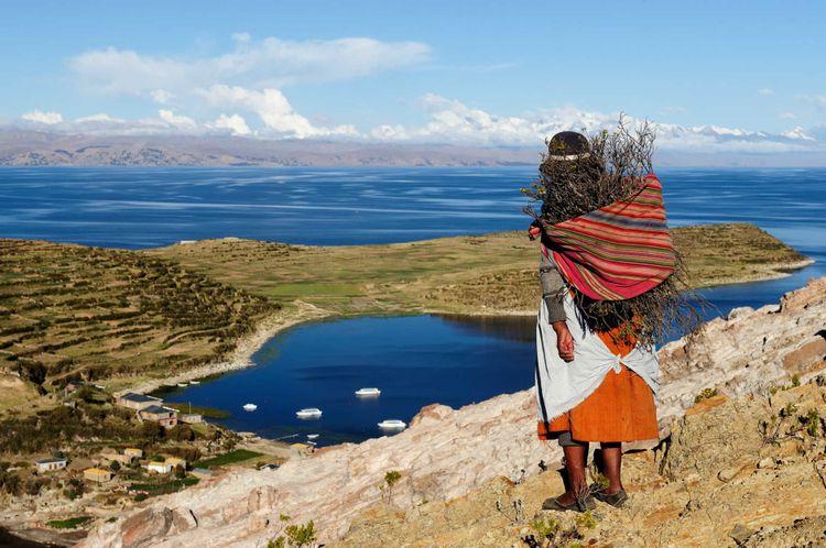Isla del sol Titicaca lake, Bolivia
