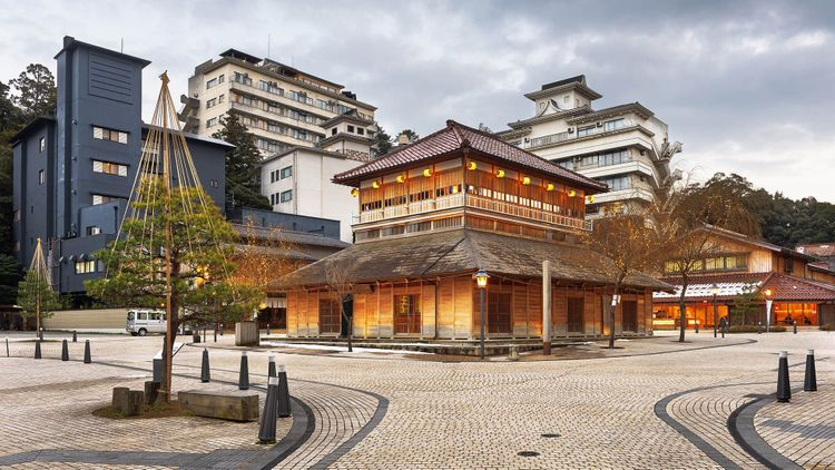 Yamashiro Onsen hot springs resort district