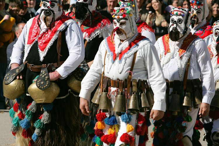 Kukeri early spring festival Bulgaria dance horo folklore music rhythm bells