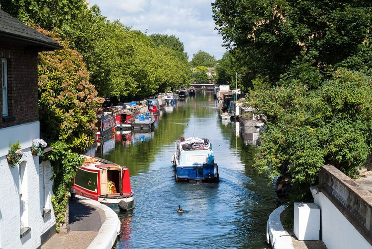 Little Venice canal in London © A and J King/Shutterstock