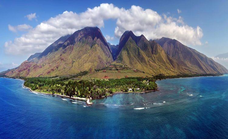 Maui Island, Hawaii, seen from above