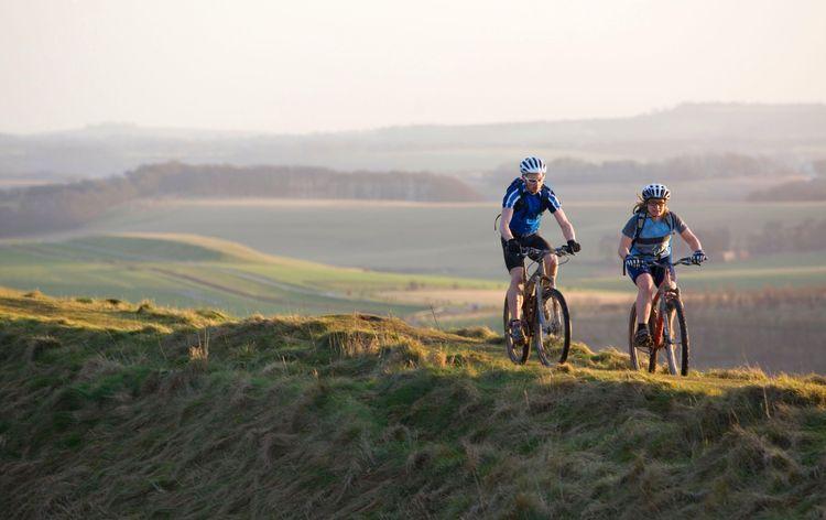Mountain Bike Riders, The Ridgeway, Oxon. UK