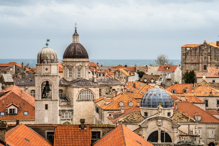 Red roofs of Dubrovnik as King's Landing from Game of Thrones, Croatia