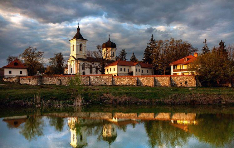Orthodox church in Republic of Moldova. Christianity. Beautiful view of the Capriana Monastery © romeovip_md/Shutterstock