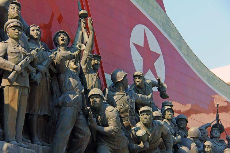 Korean war against US - Pyongyang, North Korea