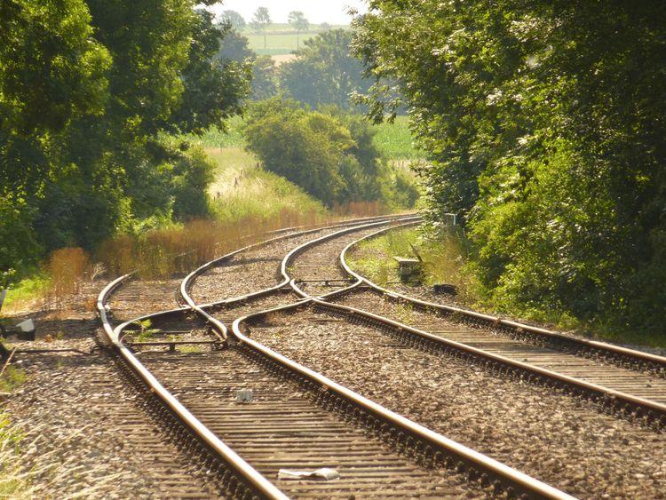 Railway line in Netherlands