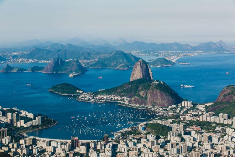 View of Rio de Janeiro and Sugarloaf Mountain from Corcovado view point, Brazil © galaro/Shutterstock