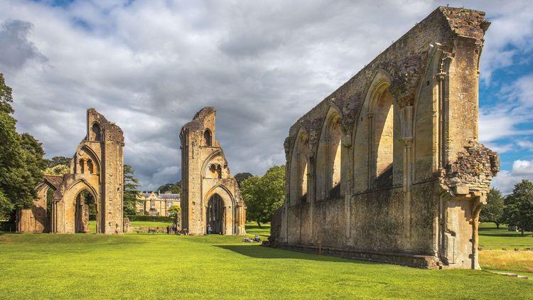 Ruins of Glastonbury Abbey, was a monastery in Glastonbury, Somerset, England © irisphoto1/Shutterstock