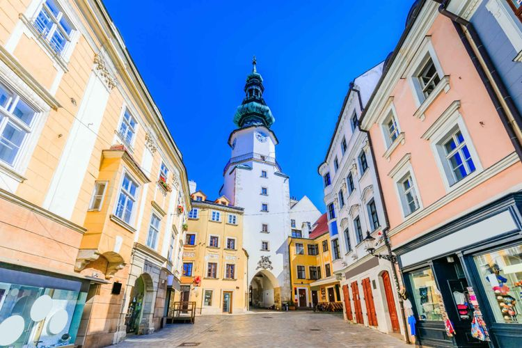 Saint Michael gate tower Bratislava, Slovakia © emperorcosar/Shutterstock