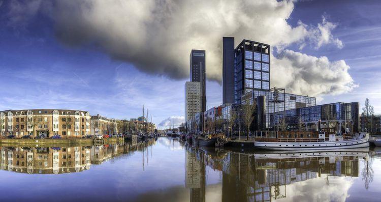 Leeuwarden skyline, the Netherlands