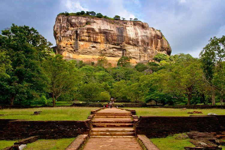 Sigiriya, towering rock above Dambulla, Sri Lanka