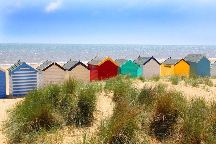 Southwold beach huts, best seaside towns uk