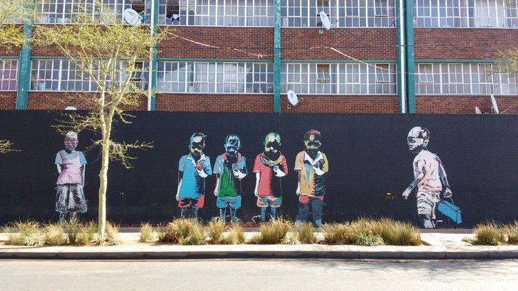 Street art Nelson Makamo