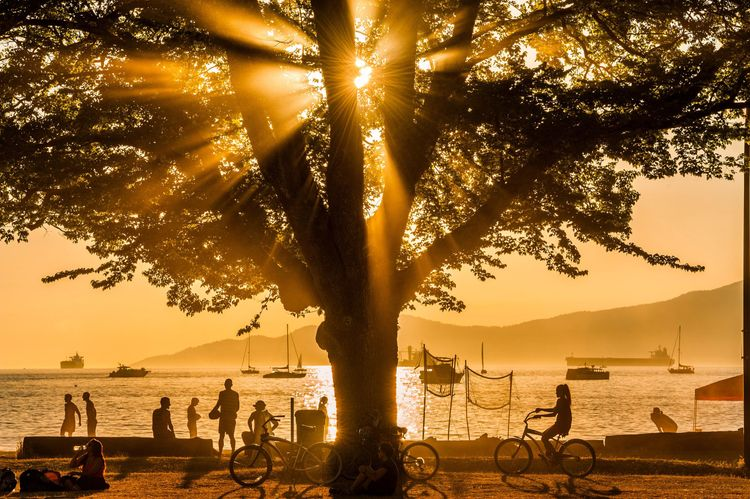 Sunset, Kitsilano Beach Park, Vancouver, British Columbia, Canada