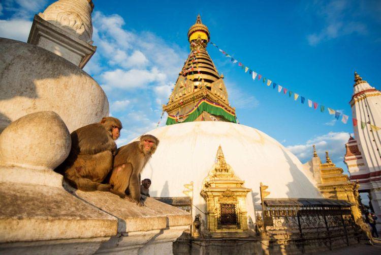 View of Swayambhunath Kathmandu, Nepal © Bon Appetit/Shutterstock
