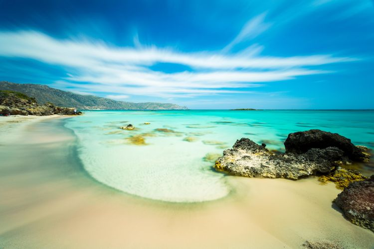 The beach of Elafonissi near Chania, Crete, Greece