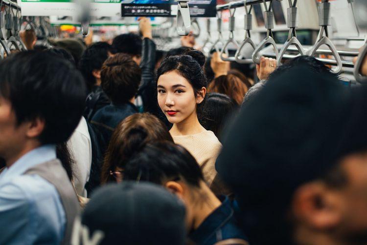 In the Tokyo metro