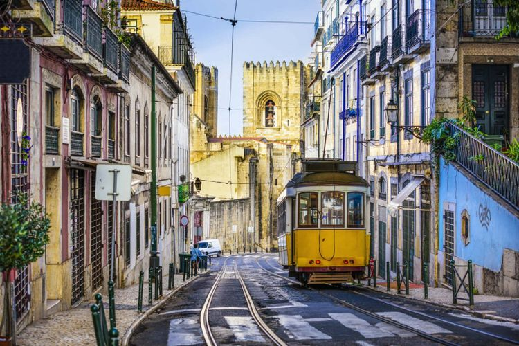yellow-tram-lisbon-portugal