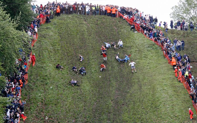 Cheese Rolling event on Coopers Hill