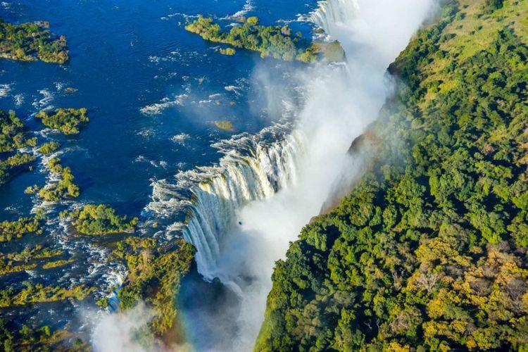Victoria Falls waterfall Zambezi river