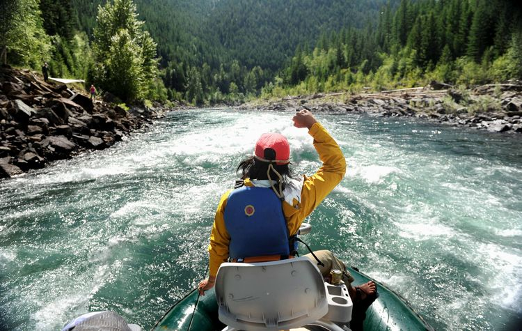 Go whitewater rafting in Glacier National Park, Montana