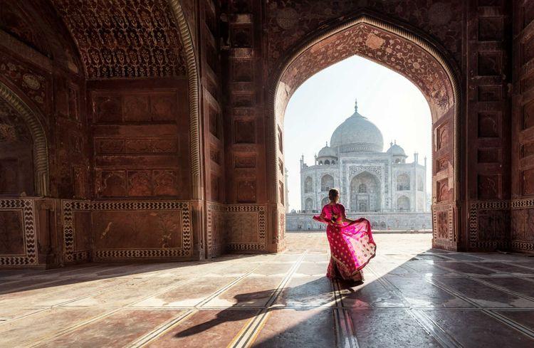 Woman at Taj Mahal, Agra, India © SasinTipchai/Shutterstock